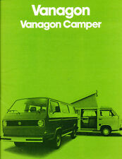 1980 VW Volkswagen Vanagon and Camper Van 16-page Car Sales Brochure Catalog