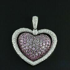 14k White Gold 0.50ct Diamond Heart Pendant