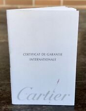 CARTIER Pen Guarantee Certificate Booklet Roadster Santos Dumont Panthere Gold /
