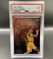 Kobe Bryant *PSA 9* 1997 Fleer Rookie Rewind #3 Los Angeles Lakers NBA