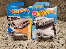 2011 Hot Wheels Back To The Future Silver Delorean Time Machine, Hw #18/50 &