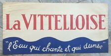 Ancien flyer chapeau publicitaire TOUR DE FRANCE LA VITELLOISE Eau qui chante *D