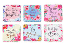 Fab & Flirty Double Compact Mirror with sentiment 6.25cm x 6cm