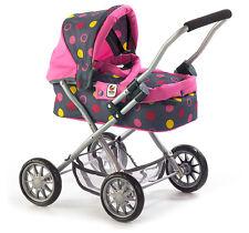 Bayer Chic 2000 Mein erster Puppenwagen Smarty Funny pink grau für Kinder Set