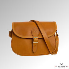 Chapman Bag Shoulder Bag Saddle Bag Leather Tan (NMS10L)