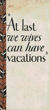 1930 ORIGINAL ad brochure -- CaTeRPiLLaR -- At last we wives can have vacations