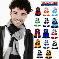 Beechfield Stadium Scarf - Striped unisex team winter accessory bright colours