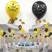 """12"""" Number Ages 10pc Latex Balloon 30 40 50 60th Happy Birthday Party Decoration"""