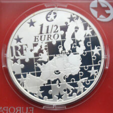 Francia: 1 1/2 euro 2004 plata, km # 1391, proof-pp, #f 1903, Europe Star