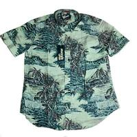 Reyn Spooner Mens Hawaiian Shirt Size XXL Diamond Head Grey Tailored Fit New