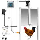 Automatic Chicken Coop Door Opener Time Sensing 12.6x11.8inch w 2 Remotes
