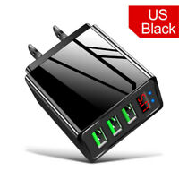 3 Port USB Fast Quick Wall Charger Adapter Hub LED Display Travel Power 5V/3.1A