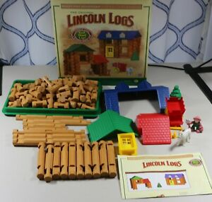 Knex Lincoln Logs 120 pcs Shady Pine Homestead Set 100% Complete, Horse Farmer