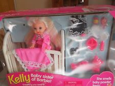 BARBIE BED TIME FUN KELLY (BABY SISTER TO BARBIE) NEVER OPENED