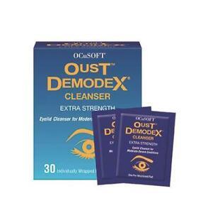 Ocusoft OUST Demodex Cleanser Eye Wipes (x30)