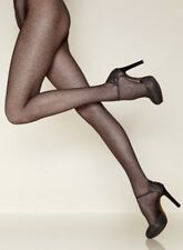 Gerbe Paris Panther Print Fashion Tights Dark Brown Pantyhose Size M