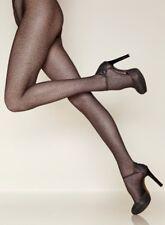 Gerbe Paris Panther Print Fashion Tights Dark Brown Pantyhose Size XXL
