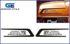 1 Paar ZACKEN LKW Aufkleber - Sticker - Decal - B 122cm x H 32cm !!