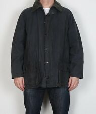 "BARBOUR Beaufort Wax Jacket Coat 44"" Large XL Navy Blue Vintage  (5BA)"