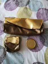 BN Gold GHD heat risistant Pouch/ case & Compact Mirror