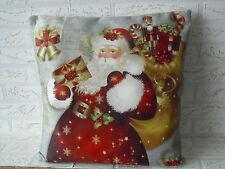 Kissenhülle, Kissenbezug, Dekokissen, Weihnachten,  Weihnachtsmann  40x40 cm