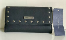NEW! TOMMY HILFIGER BLACK CONTINENTAL CHECKBOOK CLUTCH WALLET PURSE SALE