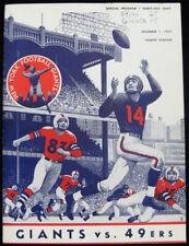 San Francisco 49ers v New York Giants 1957 NFL Program - Tittle Brodie Gifford