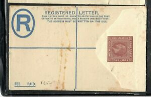 GOLD COAST COVER (P2406B)  KGV 2D+1D RLE   UNUSED SPECIMEN  SOME STAINING
