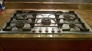 """Gaggenau 200 KG291120CA 36"""" Gas (Natural & LP) Cooktop with 5 Burners, Stainless"""