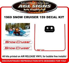 1969 Snow Cruiser  OMC 159  Reproduction Decal Kit    graphics stickers
