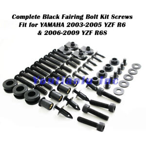 Complete Bolt Motorcycle Fairings Screws Fasteners for Yamaha YZFR6 YZF R6 2006 2007 Blue