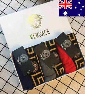 NEW Mens VERSACE 3-Pack panties cotton men's boxer breathable underwear M-2XL AU