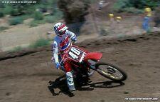 Johnny O Mara #40 Honda 1981 Carlsbad 12 x 18 Art Photo Vintage Motocross Honda