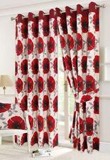 Tende rosso floreale in poliestere per la casa