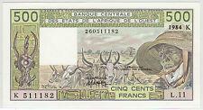 SENEGAL 1984 (SIGN. 18) 500 FRANCS (PICK#706Kg) CH CU