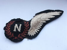 damaged  2ww large canadian padded navigator half  wing award  brevet  [ b]