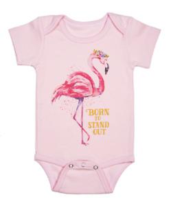 Ganz E8 Baby Girl 0-6 mo Diaper Shirt ER54993 - Flamingo
