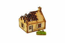 WW2 SINGLE STORY HOUSE DESTROYED 15mm Building Terrain Flames of War N522