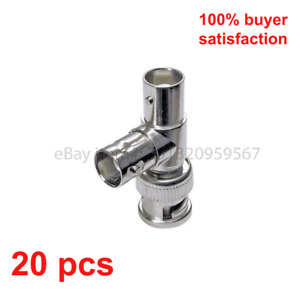 20 Pieces BNC Male to 2 x BNC Female Connector T-Shaped