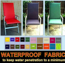 Zippy Low Back Armchair Chair Cushion Garden Furniture Red Leaf Waterproof on reverse side