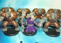 Dungeons & Dragons Miniatures Lot  Troglodyte Brute Lair Encounter !!  s116
