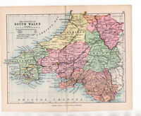 Map Of South Wales 1895