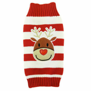 Christmas Pet Dog Sweater Reindeer Snowman Knited Jumper Puppy Cat Coat Costumes