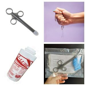 J-LUBE Powder KIT INJECTOR APPLICATOR GLOVES BAG AnalSex Fisting Lubricant 28.4g