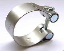LeoVince Universal Motorcycle 35mm Exhaust Clamp Stainless Steel Range 34 - 37mm