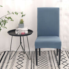 2Pcs Dining Room Solid Chair Seat Covers Slipcover Stretch Removable Wedding New