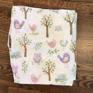 Pottery Barn Kids Haley Owl Bird Tree Crib Fitted Sheet