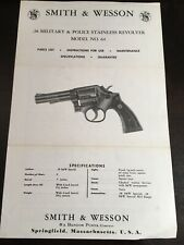 Smith & Wesson 38 In Military And Police Stainless Revolver Model No 64 Pamphlet
