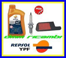 Kit Tagliando HONDA FORESIGHT 250 96>97 Filtro Aria Candela NGK REPSOL 1996 1997