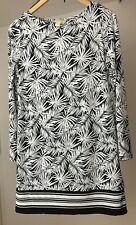 Michael Kors Palm Leaf Print Sheath Dress Black & White Size: M RRP£190